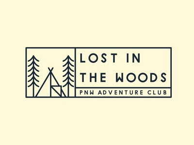 Lost in Woods PNW Sticker Design