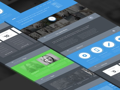 Freebie PSD: Twish Single Page Website Layout