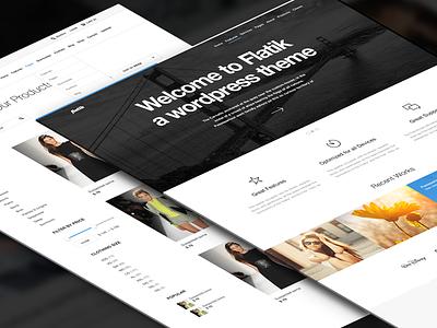 Freebie PSD: Flatik Website Layout & Product Page freebie simple wordpress psd website free flat clean photoshop