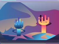 Happy sad aliens