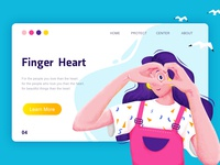 Finger heart