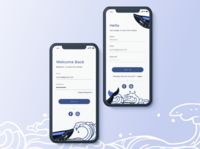 Daily UI Challenge #001 ▹ Sign Up for Save The Whales Campaign