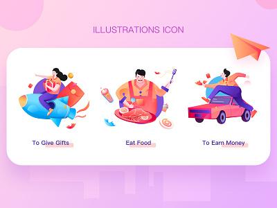 Illustrations Icon website icon illustrator illustration design
