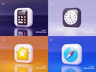 Application icon icon design