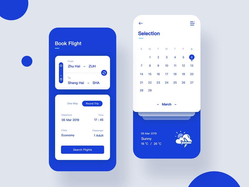 Air Tickets Design 2 illustrator ux icon app illustration ui design