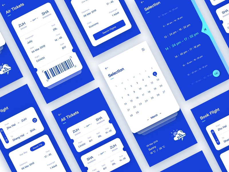 Air Tickets icon illustration app ux ui design