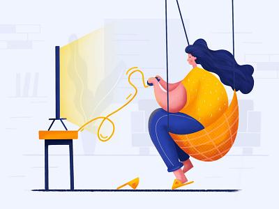 Play Games website illustrator illustration ui design
