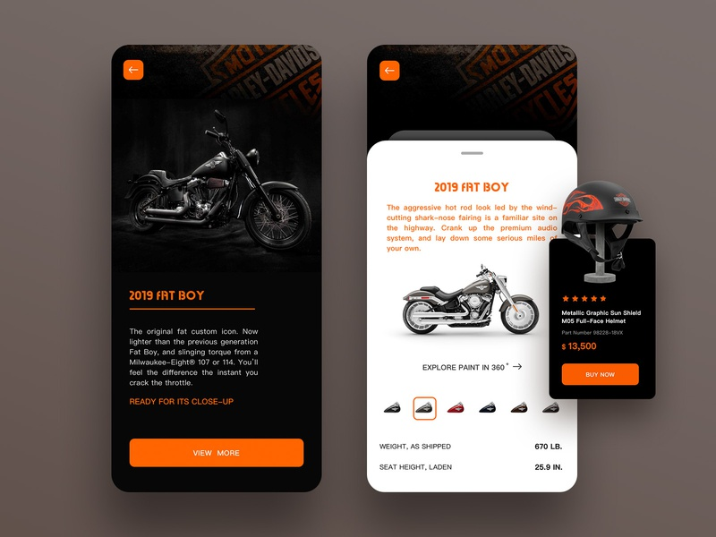 Motorcycle Pages app ux ui design