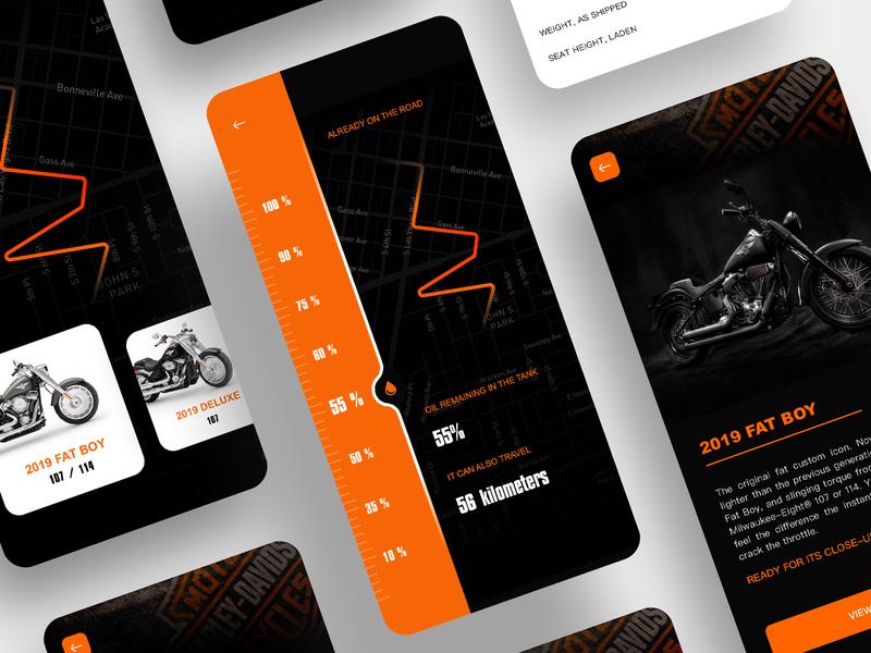 Motorcycle Page icon app ux ui design