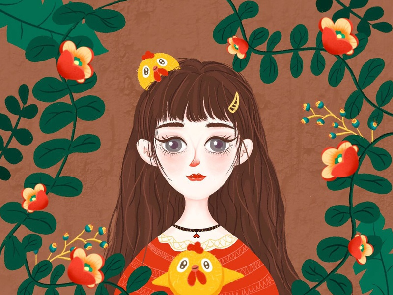 Cute Girl 1 ux ui website illustrator illustration design