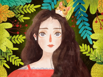 Cute Girl 2 illustrator illustration design