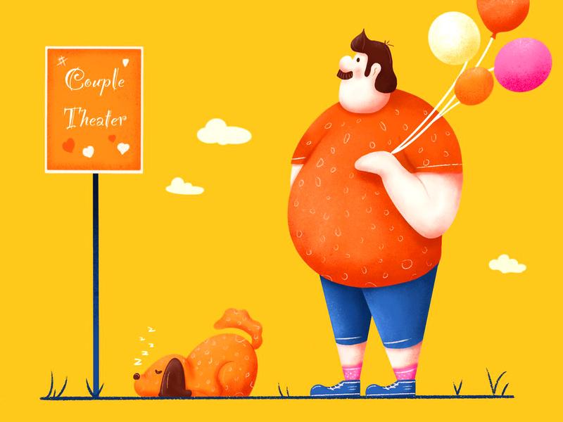 Fat Man 1 illustrator illustration design