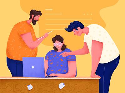 Discuss The Work design illustrator illustration