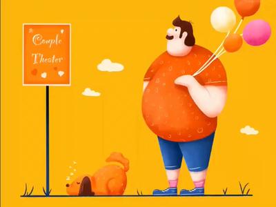 Fat Man Process illustrator illustration design