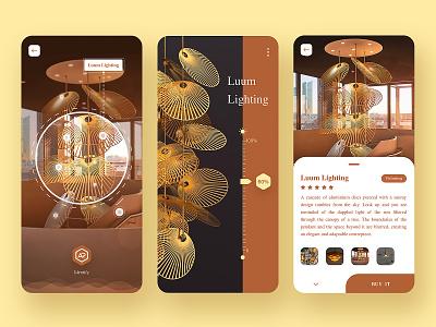 Lamp design page app ux ui design