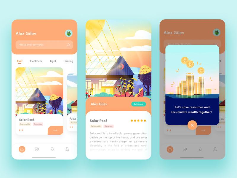Solar Roof app ux ui design