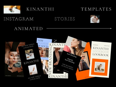 KINANTHI - Instagram Stories Templates font family pairing fonts retro vintage illustration swiss poster ui layout clean swiss design aesthetic creative market templates social media instagram design branding