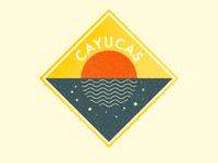 Cayucas Sunset Badge