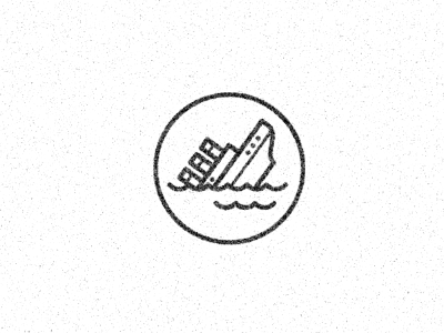 It's Going Down! icon titanic faliure ocean illustration black white skinny ships