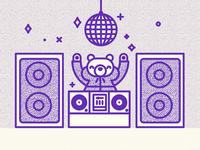 DJ Bear in the house
