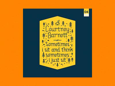 10x2015 / 04. Courtney Barnett -  Sometimes I Sit... 10x15