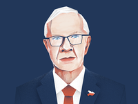 Portrait of Czech president candidate Mr. Jiri Drahos