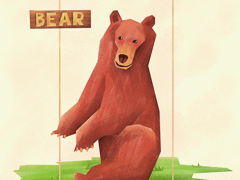 Bear kids art bear illustration bear