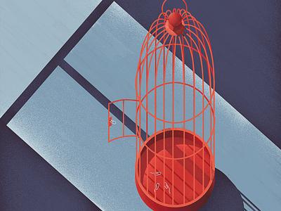 Free as a bird photoshop wacom cintiq digital illustration digital painting digital art freedom bird illustraion