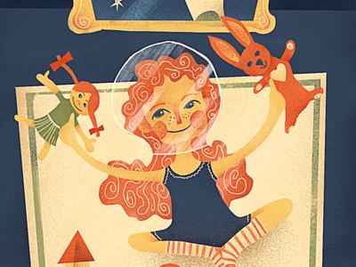 Little Cosmic Alice digital painting photoshop wacom cintiq illustration digital art kids illustration