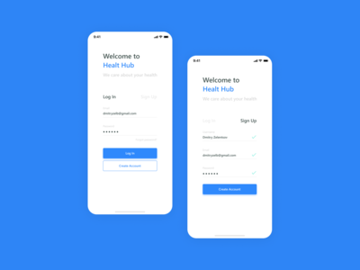 Log In / Sign Up | Daily UI 001