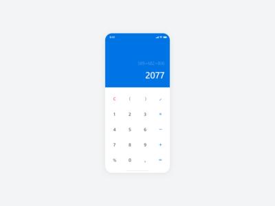 Calculator / Daily UI 004