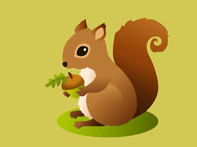 Squirrel gradient design artwork nature illustration animal art squirrel vector art vector illustrator design illustration adobe illustrator