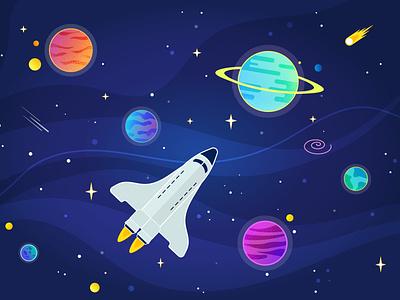 Rocket vectorart rocketship space illustration gradient design illustrator vector illustration adobe illustrator