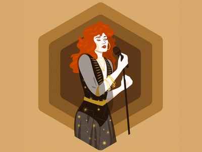 Daisy daisy jones artist music woman illustration vectorart vector illustration adobe illustrator