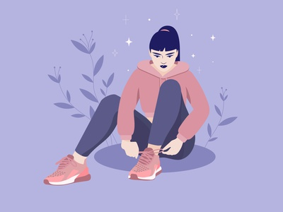 Sneakers shoes sneakers girl illustration vectober2020 inktober vectorart character design woman illustration illustration adobe illustrator