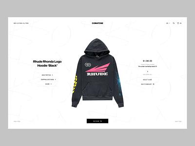 Comatose web colors transition fashion ecommerce animation ui minimal ux design
