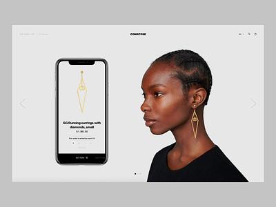 Comatose v2 mobile app transition fashion ecommerce animation ui minimal ux design