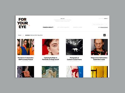 Foryoureye web adobe xd colors fashion ecommerce ui minimal ux design