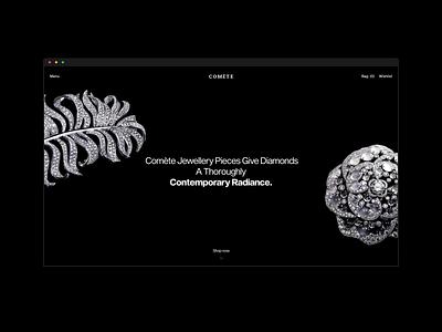 Comète web transition colors animation ecommerce fashion ui minimal ux design