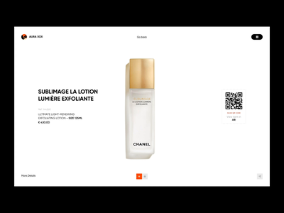 Aura xox spray lotion body nose face cream skin skincare designs brand web transition colors animation ecommerce fashion ui minimal ux design