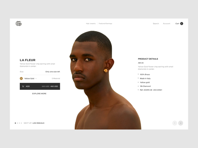 Set it off women men principle figma earning cart product web transition animation colors ecommerce ui fashion ux minimal design