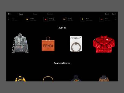 Nineback transition protopie figma animation ecommerce ui fashion ux minimal design