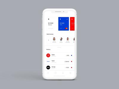 Mobile Banking App transition adobe xd ux ui minimal design app animation