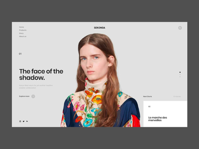 Sekonda editorial ecommerce transition adobe xd website ux colors fashion ui uipractice design animation