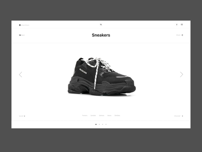 Detention web ecommerce ux fashion adobe xd minimal colors uipractice ui design