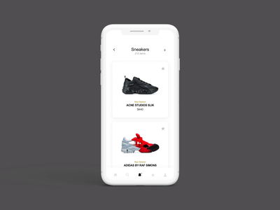 04 uipractice ecommerce mobile app ux fashion minimal ui animation design