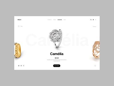 N*C//1 transition animation webdesign jewellery fashion ecommerce ui minimal ux design