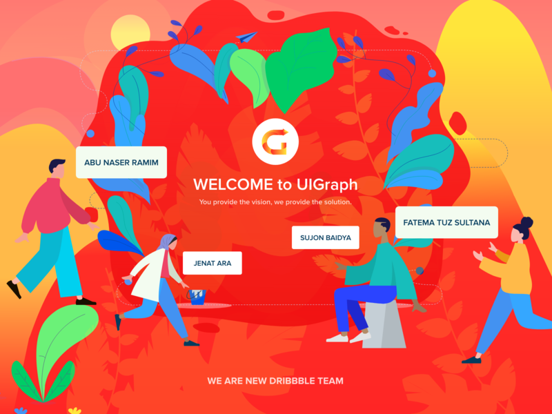 New Dribbble Team team minimal logo branding icon web animation typography vector design illustration