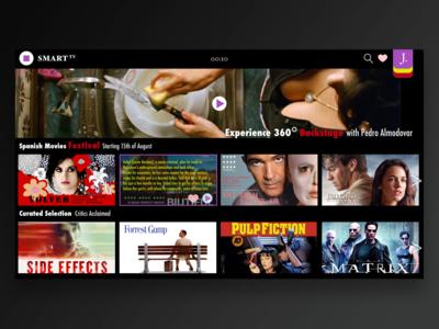 Day 025 Smart TV app for desktop #dailyui