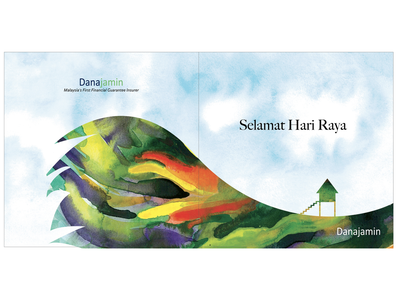 Selamat Hari Raya rayacelebration raya hariraya cock watercolorcards festivecards selamathariraya watercolor illustration